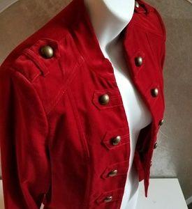 Jackets & Blazers - Sgt Pepper retro military style red velvet jckt